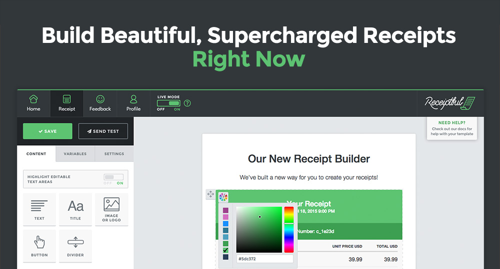introducing the new receipt builder conversio